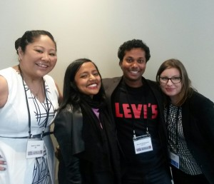 Sarah Lio-Willie, Bhakthi Puvanenthiran, Kenneth Kadirgamar and Tara Egan.